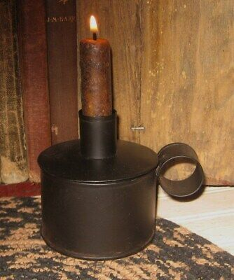 Tinder Box Candle Holder*+CANDLE!**Primitive Home/French Country Farmhouse Decor