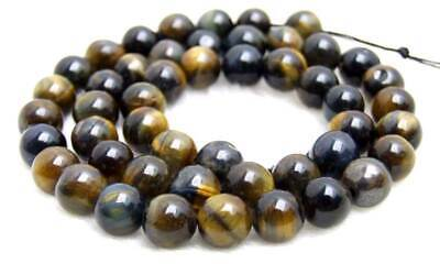 SALE 8mm High Quality Round Blue natural tiger's-eye gemstone Beads strand-lo697