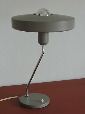 "VINTAGE PHILIPS TISCHLAMPE "" ROMEO "" DESIGN LOUIS KALFF GREY TABLE LAMP 60er"