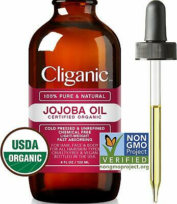 Certified Organic Jojoba Oil 120ml | 100% Pure Natural Cold Pressed Unrefined, H