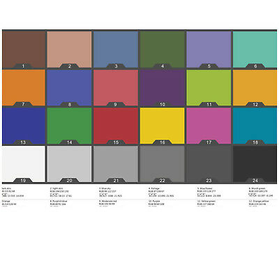 24 Colors ColorChecker Classic White Balance Test  Printing Paper For Munsell