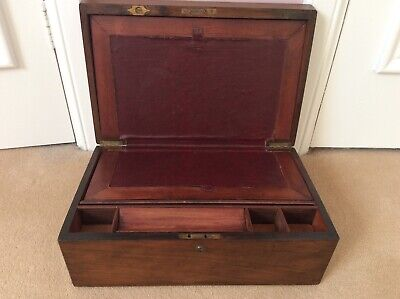 Antique Mahogany Writing Slope Box for restoration