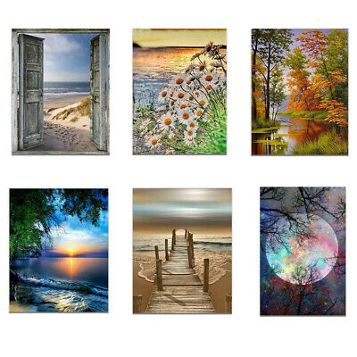Beach Sunset Scenery Canvas Poster Unframed Picture Wall Home Art Decor