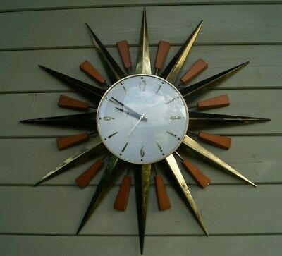 Retro / Iconic METAMEC Starburst Sunburst wall clock. 1960's