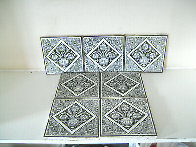 Minton Tile Aesthetic Movement Circa 1880 x7