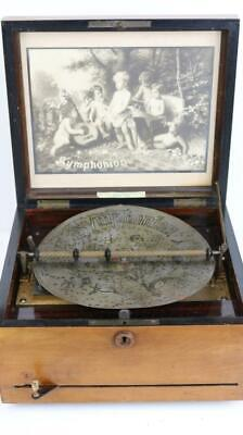 ANTIQUE SYMPHONION (Polyphon) MUSIC BOX with 13 DISCS plays great CLOCK WORK