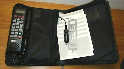 Vintage Motorola Cellphone Model SCN2462A Bag Mobile Car Phone Powers Up