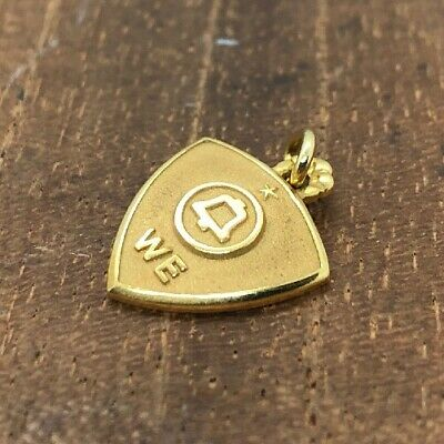 10k Yellow Gold Vintage Telephone Company Charm Necklace Pendant Service (2g)