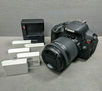 Canon EOS Rebel T5i 18MP DSLR Camera with 18-55mm IS II Lens Kit