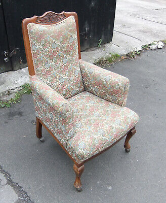 Victorian High Back Mahogany Armchair
