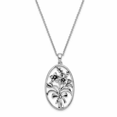 """Sterling Silver Antiqued I Celebrate The Day You Were Born Necklace 18"""" MSRP$120"""