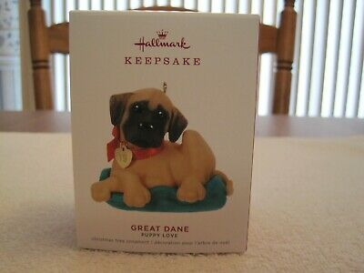 2019 Hallmark Keepsake Ornament Great Dane Puppy Love 29Th In Series--New