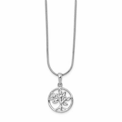 """White Ice Sterling Silver Diamond Tree Necklace, 18"""" MSRP $178"""