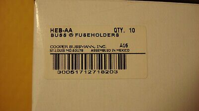BUSS HEB-AA 30A 600V In-Line Fuse Holder NEW & UNUSED! box of 10!