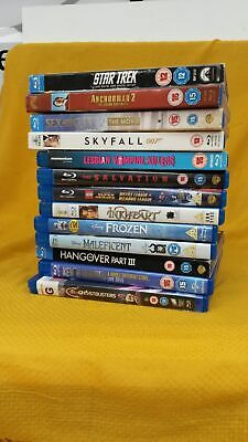 Job Lot 13 Blu Ray DVDs From PG To Age 15- Star Trek, Skyfall, Ghostbusters