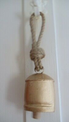 Cow Bell Indian Fair Trade Hanging Bell Metal Rustic Industrial Home Decor Gift
