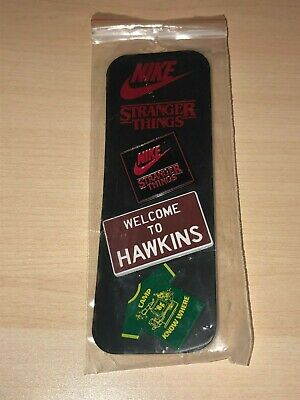 Nike Netflix Stranger Things Hawkins Pin Set Collectible Supreme Undefeated + PL