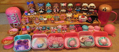 Lol Surprise Doll Lot Lil Sis Glitter Diva Fresh Teachers Pet Wigs Accessories
