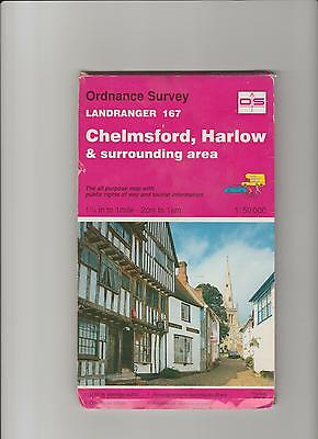 Ordnance Survey Map 1;50,000 167 Chelmsford, Harlow 1992 Inc. Stansted Braintree