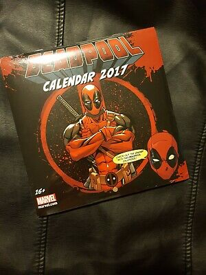 Deadpool 2017 Official Calender With Collectable Images. Sealed