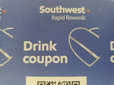 Southwest Airlines Coupons Drink Beverage Voucher (4x) - Exp 7/31/2020.