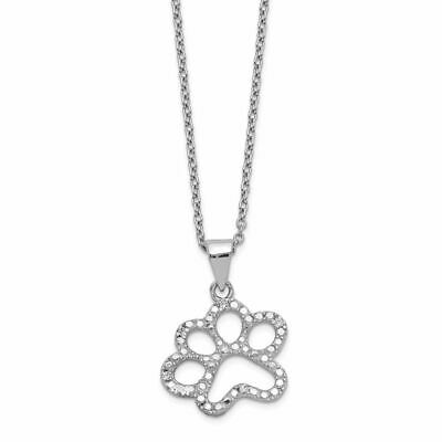 Cheryl M Sterling Silver Rhod Plated CZ /& Created Ruby 18.25in Necklace