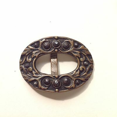 Cut Steel Antique Buckle x1
