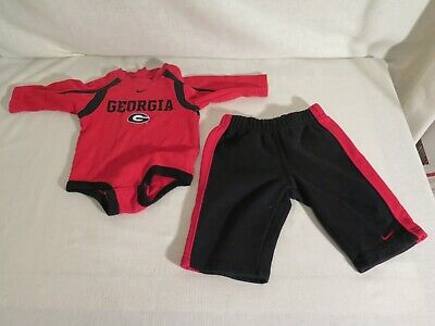 Georgia Bulldogs 6/9 months outfit (pants and long sleeve shirt) Nike