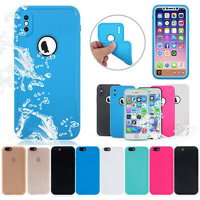 Waterproof Shockproof Cover For IPhone XS MAX XR X 8 Plus Hybrid Rubber TPU Case