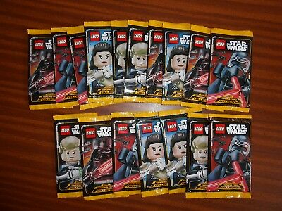 17 Sobres Cartas Star Wars Lego Trading Cards Nuevas Sellados Darth Vader
