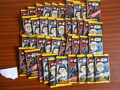 40 Sobres Cartas Star Wars Lego Trading Cards Nuevas Sellados Darth Vader