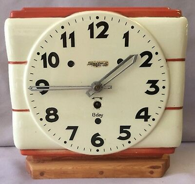 Black Forest Ceramic Kitchen Clock With Stand - Germany