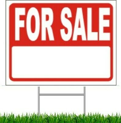 """For Sale Large Outdoor 24""""x18"""" Land Yard Sign With Wire Stake street sign"""