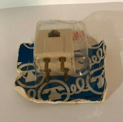 Tel Products Telephone 4 Prong Adapter Plug to RJ11 Modular Jack,in pack
