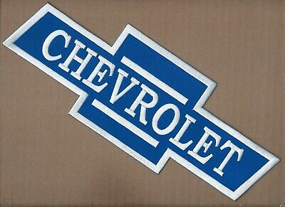 New 4 1/2 X 12 1/2 Inch Chevrolet Bow Tie Iron On Patch Free Shipping P1