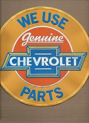New 9 1/2 Inch Chevrolet Genuine Parts Iron On Patch Free Shipping P1
