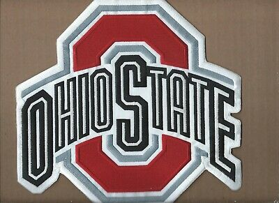 New 9 X 9 1/2 Inch Ohio State Buckeyes Iron On Patch Free Shipping P1