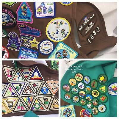 VINTAGE GIRL SCOUT Badges Patches Pins Brownies Land Of