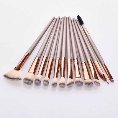 12pcs Pro Makeup Brushes Set Foundation Powder Eyeshadow Eyebrow Eyeliner Brush