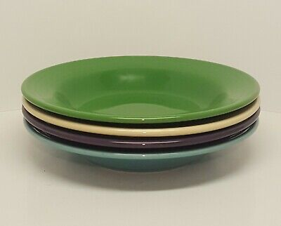 Fiestaware Rimmed Soup Bowl Lot of 4 Fiesta Mix Color 9 inch Pasta Bowl 4C22M20