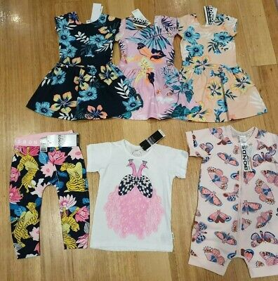 BNWT Bonds Girls Summer Bundle Pack - Size 1 Dresses, Wondersuit Tee RRP $135