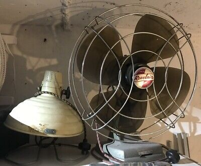 Vintage REVELAIR ELECTRIC FAN & SUN RAY LAMP