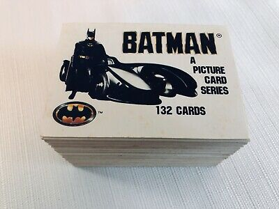 Complete Set 1989 Batman The Movie Trading Cards 132/132 Topps DC Comics Cards