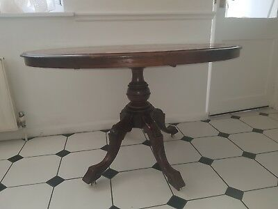 18th Antique Victorian Mahogany Tilt Top Breakfast Table  Loo Table