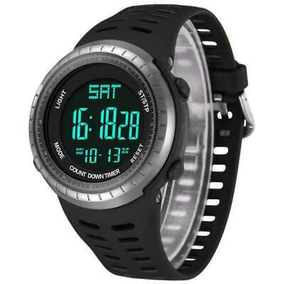 Mens Digital Sport Watch, Military Black Watches, Army Electronic Casual Wristwa