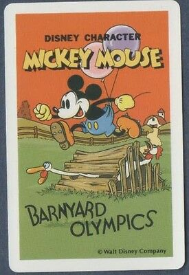 Swap Playing Cards 1 Japanese Nichiten Disney Mickey Mouse Olympics 1980's A183