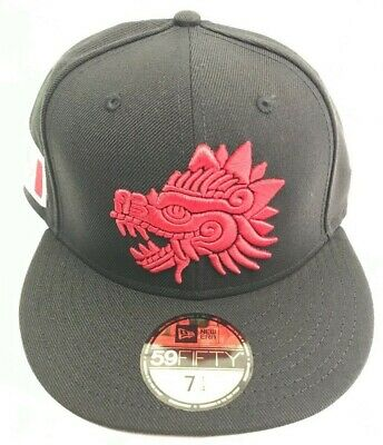 Mexico Quetzalcoatl  New Era 59FIFTY Fitted  Hat cap  - Black/ Red