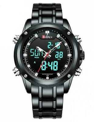 Mens Analogue Digital Watches Men Chronograph Waterproof Sport Watch Military La