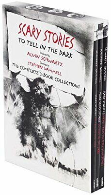Scary Stories Paperback Box Set Complete 3-Book Art by Alvin Schwart Paperback