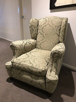 Stunning And Rare Antique Wingback Chair Euc